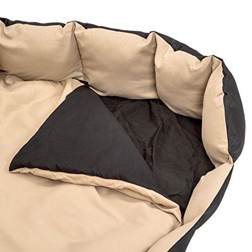 TecTake® XXL Hundebett Hundekissen Hundesofa Schlafbett schwarz/beige - 4
