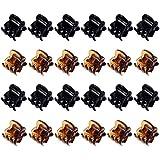 Mini Clips de Pelo Garras de Pelo de Plástico Pinza de Pelo para Chicas y Mujeres (24 Piezas, Negro y Marrón)