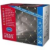 Konstsmide 3706-003 Microlight Lichternetz / für Außen (IP44) /  24V Außentrafo / 160 klare Birnen / transparentes Kabel