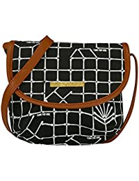 Funk For Hire Women Printed Cotton Canvas Crossbody Mini Sling Bag
