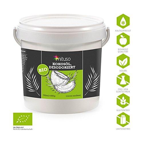 mituso Kokosöl, Geschmacksneutral (desodoriert), 1er Pack (1 x 750 ml) im Eimer - 2