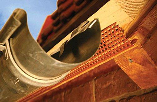 Vogelschutzgitter Traufgitter Lüftungsband 5 m lang 100 mm hoch Material PP