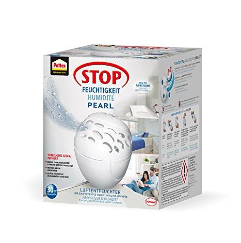 Pattex Stop Feuchtigkeit Pearl Luftentfeuchter / Räume bis 30m³ / Raumentfeuchter gegen Schimmel und unangenehme Gerüche / Inkl. 1 x 300g Tab
