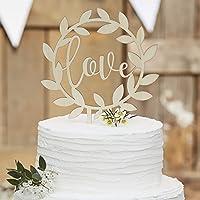 Love Topper Kuchendeckel in Weiss Hochzeit Torte Dekoration
