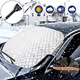 WisFox Parasole Parabrezza,Telo Parabrezza Auto Copertura Parasole,Copertura Invernale per Parabrezza Antineve Antighiaccio e Anti UV