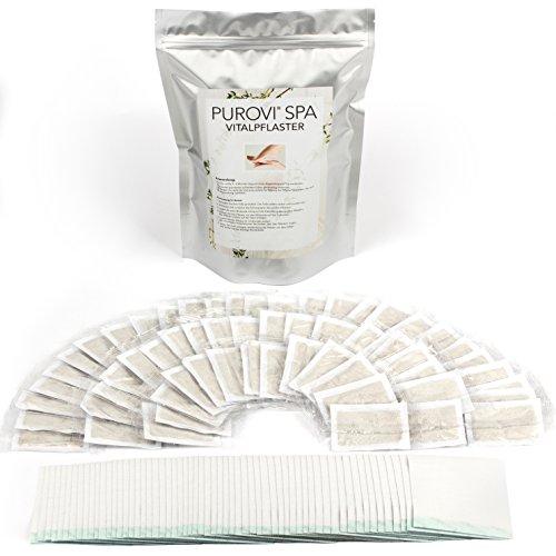 Purovi® 60 Parches de Pies Detox | Parches para Purificar | Desintoxicante y Revitalizante | Anti Estrés, Migrañas e Insomnio