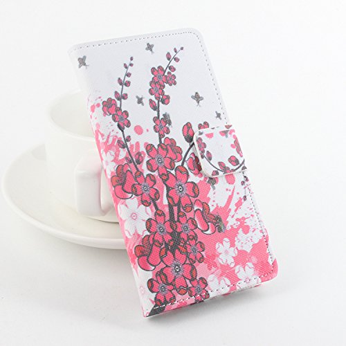 Baiwei Easbuy Bunt Pu Leder Kunstleder Flip Cover Tasche Handyhülle Case für Cubot P11 Smartphone (Side Open mit Halterung Design, Mode 9)