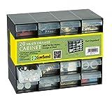 Garland Casier de rangement en plastique 20 tiroirs pour garage ou abri de jardin