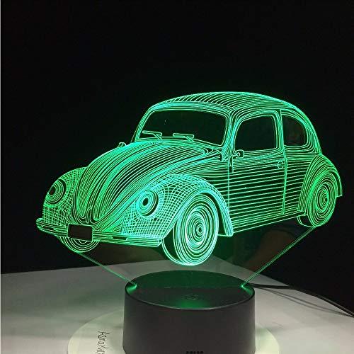 Fyyanm 7 Farben Visuelle Auto 1970 Modellierung Lampe 3D Led Nachtlicht Kinder Geschenke Touch Schalter Usb Tisch Lampara Lampe Schlaf Beleuchtung