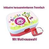 Kindergarten Brotdose mit Name, Mädchen, Löwe, Schule, Kita, Pink, Rosa, personalisiert, Lunchbox, Brotzeitdose, Vesperdose, Vesperbox, ginidesign