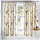 """Dreams & Drapes - Spring Glade - Ready Made Lined Pencil Pleat Curtains - 66"""" Width x 72"""" Drop (168 x 183cm) in Multicolour"""