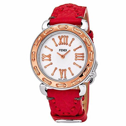 Fendi Women's Selleria 35mm Leather Band Swiss Quartz Watch F8002345H0.SSK7