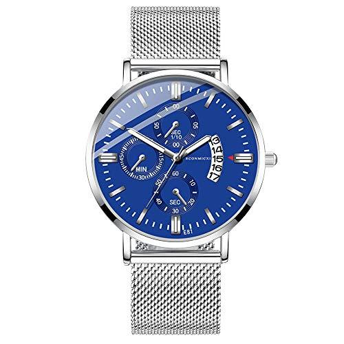 XZDCDJ Quartz Uhr Herren Digital Armbanduhr Herren Analog Date Slim Alloy Kleid Armbanduhr Wasserdicht - Für Erwachsenen Uhr Kostüm