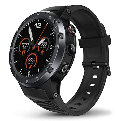 Wifi 5 Mp Gps (ZLOPV Fitness Armband 4g Bluetooth 4.0 SmartWatch Android 7.1 5MP Kamera 580mah GPS WiFi Sport Smart Watch Men)