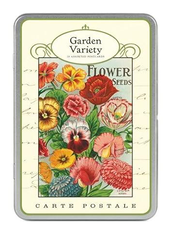 Garden Variety Glitzer &Cavallini Co. Postkarten-Set, Motiv: Carte Postale