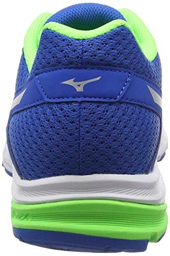 Mizuno Synchro Md, Chaussures de Running Compétition Homme Bleu - Blue (Skydiver/Silver/Green Gecko)