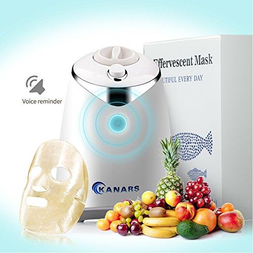 KANARS Máquina de la Mascarilla de la Fruta con la Función Humana de Recordatorio de Voz, 32 PCS Collagen Tabletas Incluidas