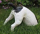 Dekorationsfigur Dekofigur Tierfigur halber Hund H 25 cm Gartenfigur aus Kunstharz