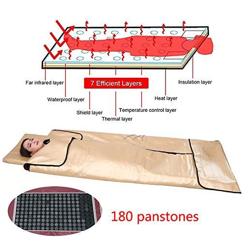 JEANN-Schlaf Stein Negative Ionen Physiotherapie Gesundheit Khan Dampfer Decke, Entgiftung Schönheit Abnehmen Lipolyse Sauna Pad -