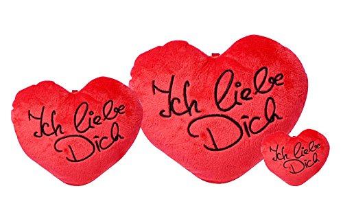 """kleines Herzkissen """"Ich liebe dich"""" 8cm"""
