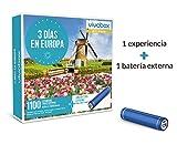 VIVABOX Caja Regalo -3 DIAS EN Europa- 1.100 estancias.Incluye: una batería Externa para Smartphone
