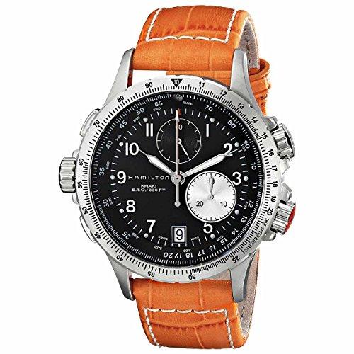 hamilton-h77612933-uomo-khaki-eto-lefty-quadrante-nero-cronografo-cinturino-in-pelle-arancione