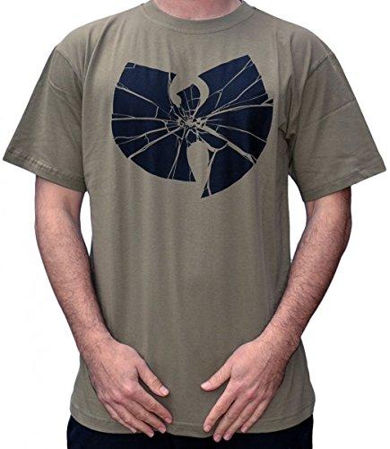 Wu Wear - Wu Tang Clan - Wu Broken Logo T-Shirt - Wu-Tang Clan Color Green, Size XL
