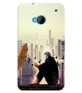PRINTVISA Abstract Building Case Cover for HTC One M7