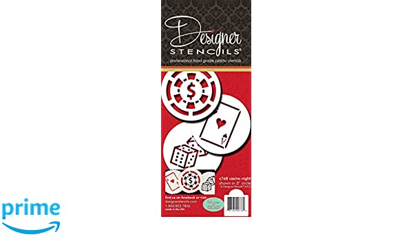 Designer Pochoirs C768 Casino Nuit Ensemble Pochoir Cookie Ds Cartes De Visite Jeton