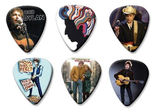 Bob Dylan Set of 6 Loose Gitarre Plektrum Plektron Picks ( Collection C ) (Bob Dylan-gitarre Picks)
