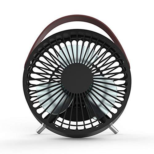 BUHWQ Ventilator Tischventilator Leise Fan TischventilatorküHlung Elektrische Ventilatoren Kleiner USB-Ventilator, Tragbarer Mini-Desktop - Quadratmeter Kühlung