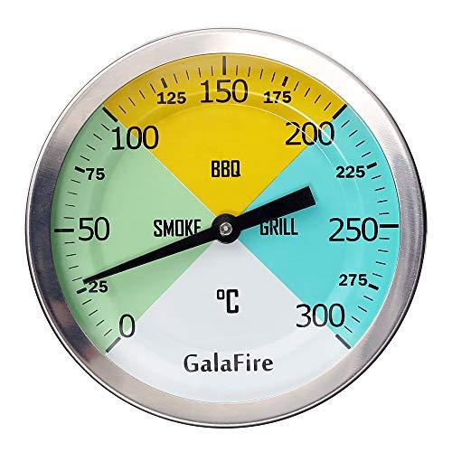 GALAFIRE 3 3/16 Pulgadas Cara Grande 300 ℃ Termómetros para Barbacoas, Medidor...