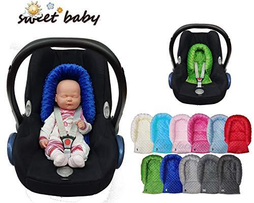 Sweet Baby ** SOFTY MINKY SitzVerkleinerer ** NeugeborenenEinsatz/KopfPolster für BabyAutositz Gr. 0/0+ (Grau)