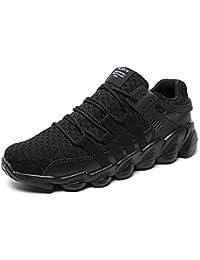 Weien Zapatillas de Deporte Hombres Zapatos de Gimnasia Para Caminar de Peso Ligero Negro Gris Blanco 39-46