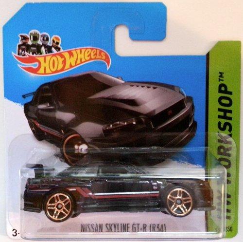 Hot Wheels 2014 NISSAN SKYLINE GT-R (R34) HW Workshop 230/250 by Mattel