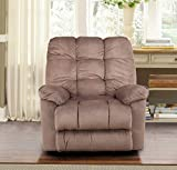 HomeTown Elliot Dark Brown Fabric Recliner/Rocker