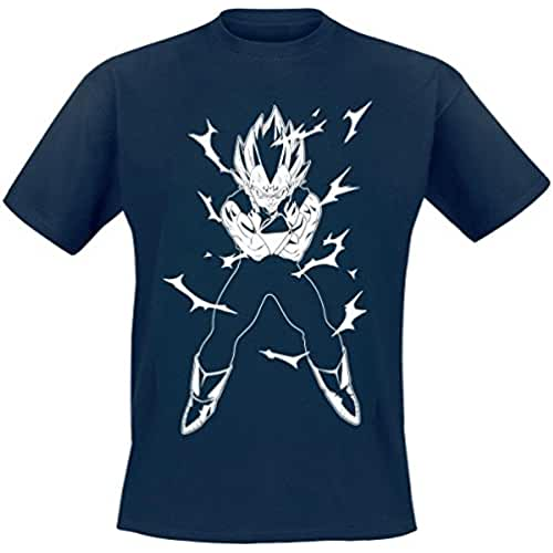 Dragon Ball Z Vegeta Camiseta Azul oscuro