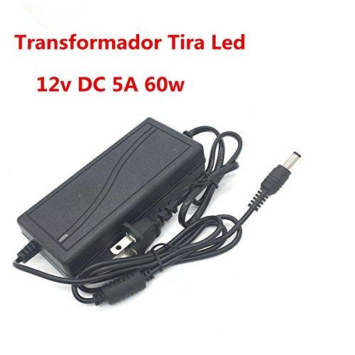 OneMoreT 110V-240V auf DC 12V 5A 60W AC/DC Adapter Konverter Netzteil Ladegerät Beleuchtung Trafo für LED Strip Light 5050 3528