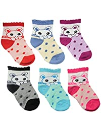 DADDY G Baby Boy's and Girls Cotton Soft Touch Socks (Multicolour, 3 - 12 Months) - 6 Pairs