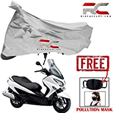 Riderscart Bike Cover for Suzuki Burgman Bicycle Cover, Anti-UV Protection with Anti Theft Lock Holes and Buckles, with Bag