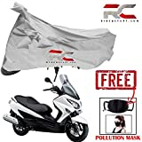 #7: Riderscart Bike Cover for Suzuki Burgman Bicycle Cover, Anti-UV Protection with Anti Theft Lock Holes and Buckles, with Bag