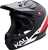 Kali Protectives 0210618117 Casque de BMX intégral Mixte Adulte, Noir/Rouge, Taille...