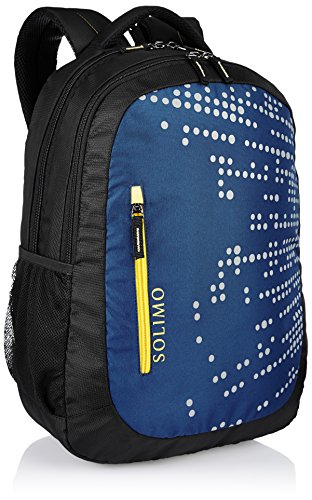 Best backpack brands in India 2020 Amazon Brand - Solimo Laptop Backpack for 15.6-inch Laptops (29 litres, Midnight Blue) Image 2