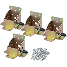 BQLZR 75x 60x 55mm, color-plated Zinc bisagras de hierro mesa patas de cama plegable de extensión de bloqueo lateral freno soporte con tornillos paquete de 4