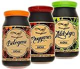 Fertige Pasta-Soßen im Glas ohne Konservierungsstoffe von Aranyfacan | Ungarische, Bolognese und Gemüse Sauce | 3 Gläser (3x 510g) | laktosefrei und glutenfrei