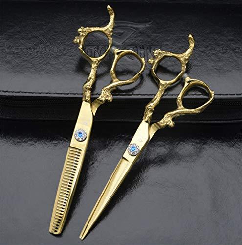 DANTB 6,0 Zoll Gold Senior Friseur Rotating Screw Barber Hair Schneiden Und Effilierschere Set Für Professionelle Friseur -