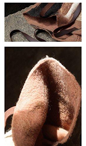 Ysting tote a mano - Feltro di lana Borsa - bella borsa - Borsa a mano - Borsa in feltro di lana - grande borsa della borsa a mano Knit-infeltrito (D) B
