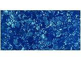 Incudo Zelluloid-Platte, Perloid-Muster, kobaltblau, 200x 100x 0,71mm.