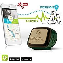 Kippy Vita, Rastreador de GPS y monitor de actividad para mascotas, Localizador GPS para perros y gatos, verde (Camo Sentinel)