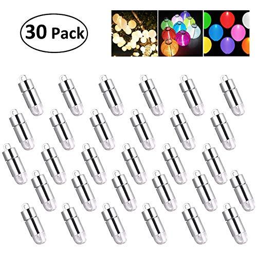 KINGTOP 30 LED-Ballons Lichter wasserdicht Beleuchtung für Papierlaternen Ballons Blumendekoration, Wasserfeste, Kalt-weiß